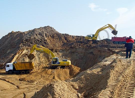 МЕГА-СТРОЙ - подготовка участка, площадью 16,38 Га под строительства складского комплекса для компании Radius Group