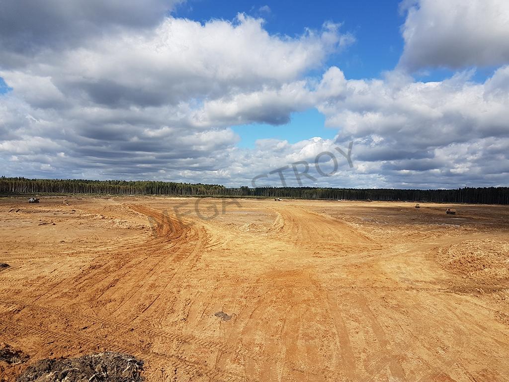МЕГА-СТРОЙ – проведение комплекса земляных работ на земельном участке общей площадью 84,8 Га