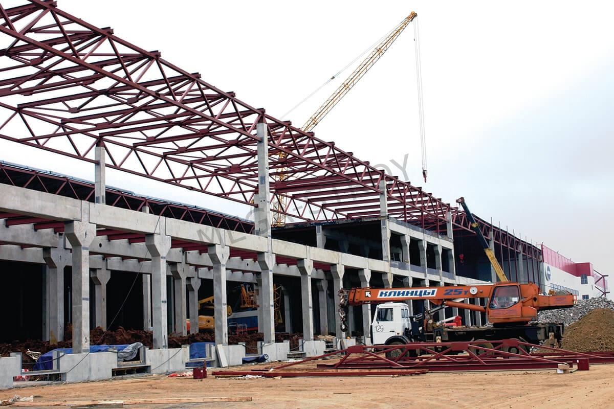 внешний вид на строительство склада из металлоконструкций
