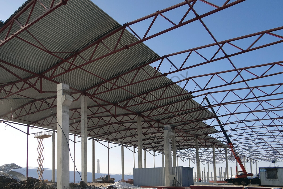 проведение работ по строительству складов из металлоконструкций