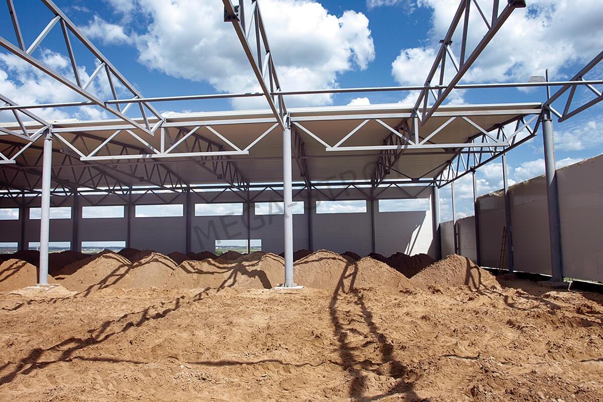 выполнение работ по строительству быстровозводимого склада