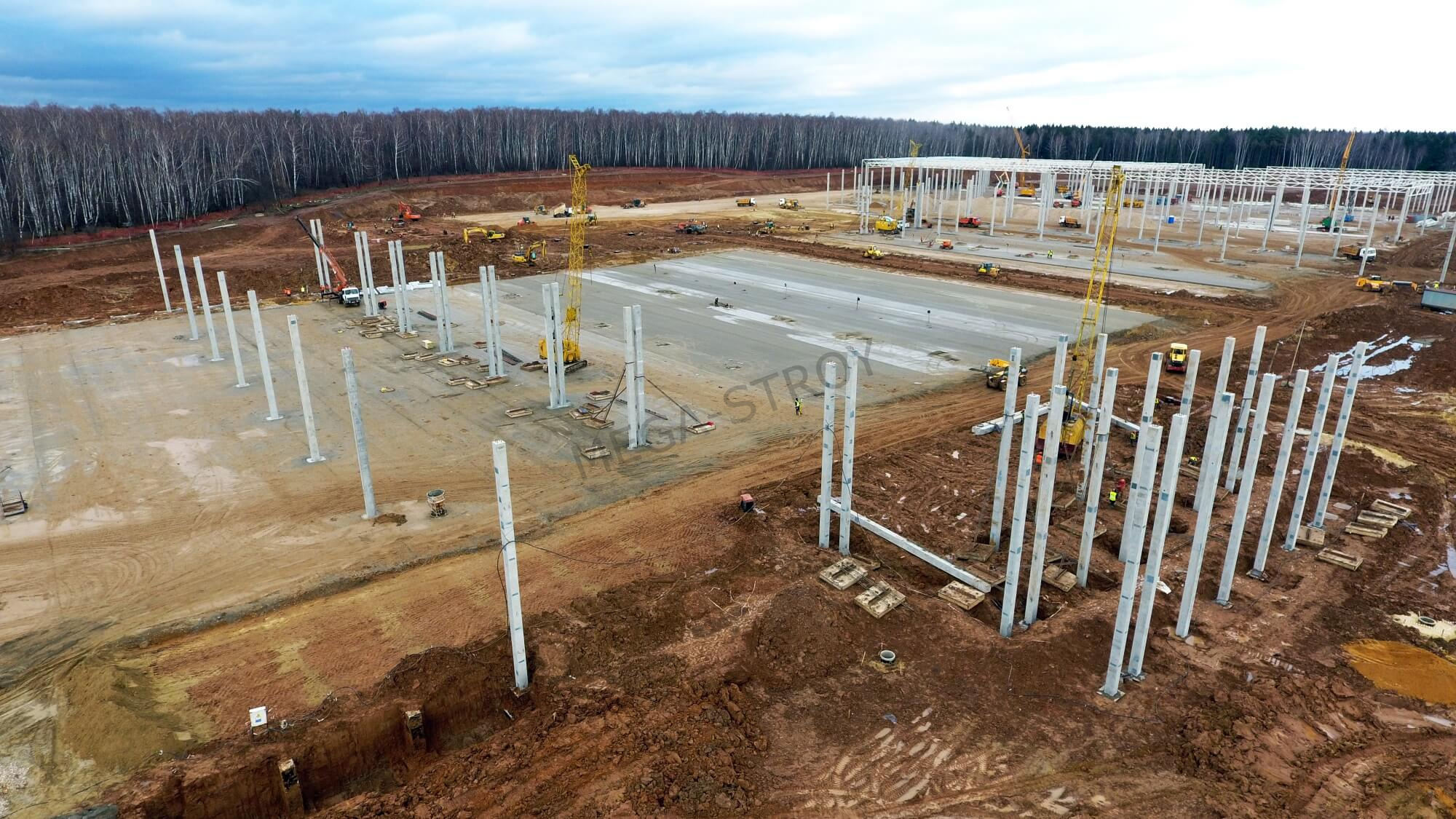 МЕГА-СТРОЙ – строительство специализированного Национального Центра Логистики для компании Ашан